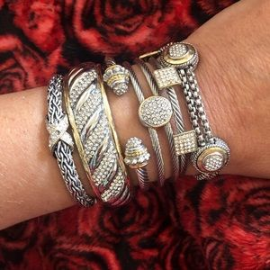 Stack of 6 Cable Bracelets